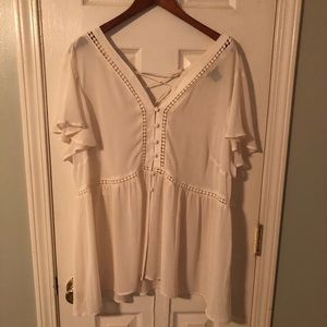 Cream Torrid blouse